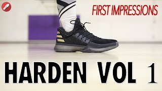 adidas james harden vol 1 first impressions