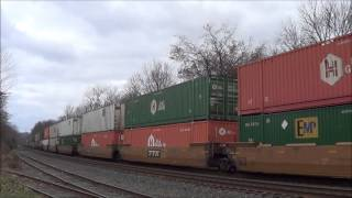 8 Trains on The Lehigh Line in Piscataway: Tropicana Train, Ex-Conrail Veterans & More: 11/24/12