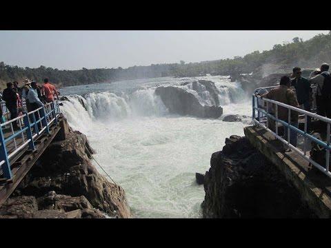 माँ नर्मदा परिक्रमा -Dhuandhar Falls  on Narmada River  Bheda Ghat Jabalpur part 02
