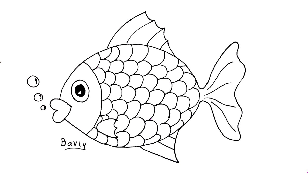 كيف ترسم سمكة خطوة بخطوة للمبتدئين