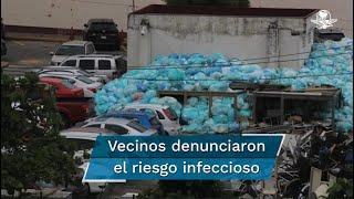 Vecinos de la Unidad Médica de Alta Especialidad 14 denunciaron en redes sociales la acumulación de decenas de bolsas. El Instituto afirma que ya se inició una limpieza exhaustiva