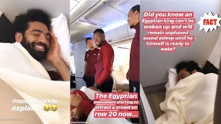 Mo Salah sleeping,Chamberlain going Live on insta - Lovren lost without Mo