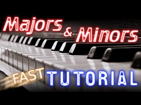 How To Play Piano Major Chords Vs Minor Chords Easy Piano Tutorial