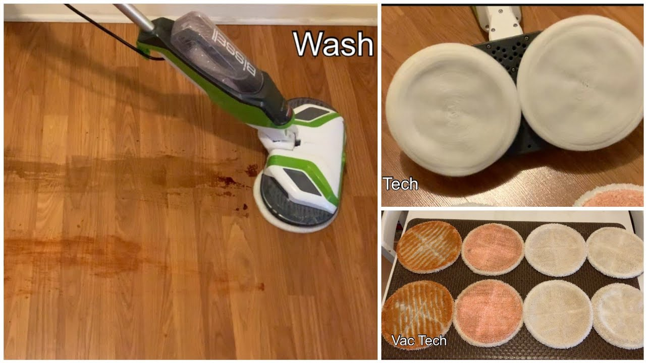 Bissell Spinwave Hard Floor Cleaner Review Demo How To Clean Polish Your Floors Youtube