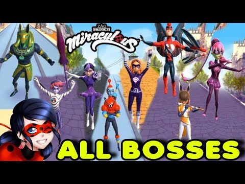 Miraculous Ladybug&Cat NoirMobileGame OFICIAL ALL BOSSES TODOS OS CHEFES GAMEPLAY PT BR