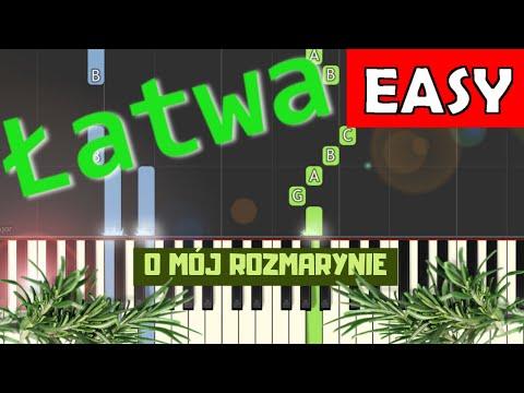 🎹 O mój rozmarynie - Piano Tutorial (łatwa wersja) 🎹