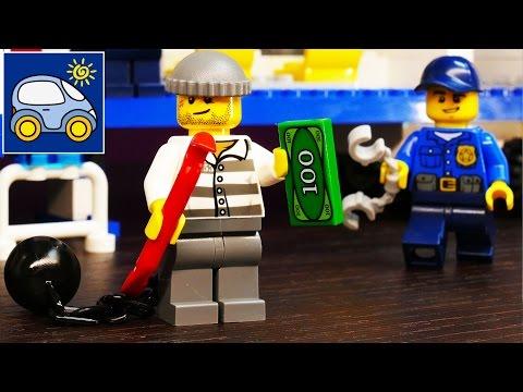 Лего Полиция 60044. Распаковка Лего Сити Полицейский Грузовик Lego City Mobile Policy Unit. Картонка