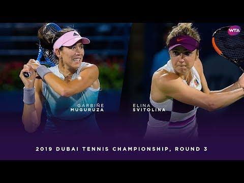 Garbiñe Muguruza vs. Elina Svitolina   2019 Dubai Third Round   WTA Highlights