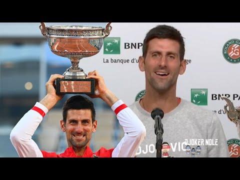 Djokovic's Press Conference after Winning RG21