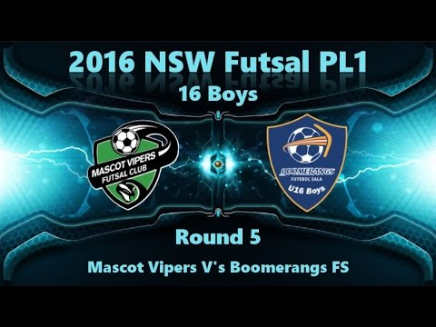 NSW PL1 16 Boys  Round 5 - Mascot Vipers vs Boomerangs FS