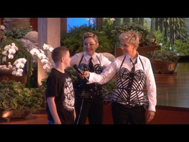 Madonna Sends Her Son Rocco to the Splash Tank!