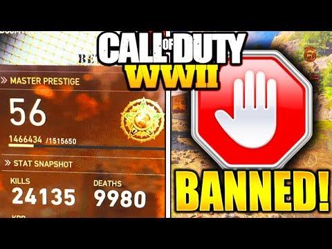 BANNED FOR NO REASON COD WW2! PLAYERS GETTING BANNED MASTER PRESTIGE GLITCH CALL OF DUTY WW2!