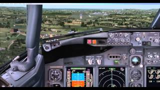 FSX PMDG 737 NGX Afternoon Manual Landing In Edinburgh
