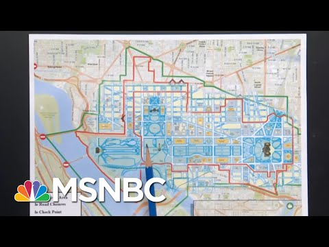 D.C. On Lockdown Ahead Of Inauguration After Capitol Riots | Andrea Mitchell | MSNBC