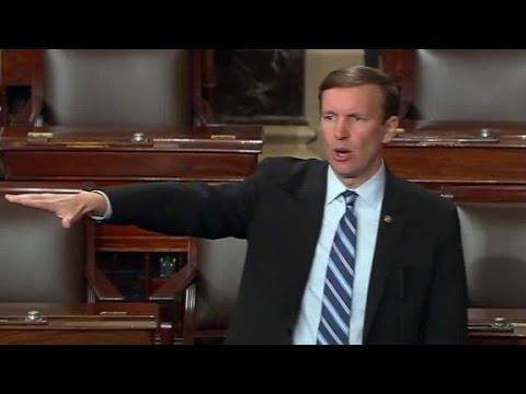 Democratic senator launches filibuster over guns