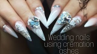 Wedding nails using my uncles ashes