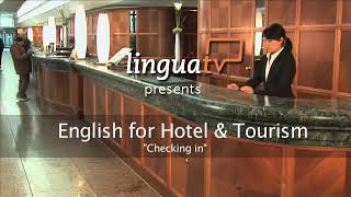 Learn english for hotel and tourism: checking into a hotel I english course by