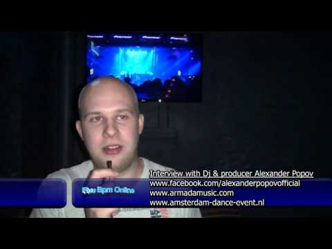 Interview with Alexander Popov at 10th Anniversary Armada Night at ADE 2013