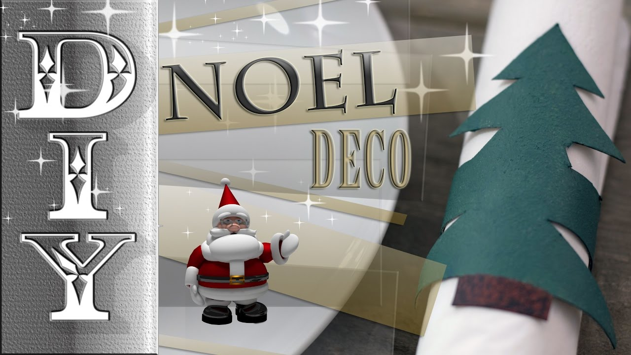 noel deco rond serviette sapin christmas decoration. Black Bedroom Furniture Sets. Home Design Ideas