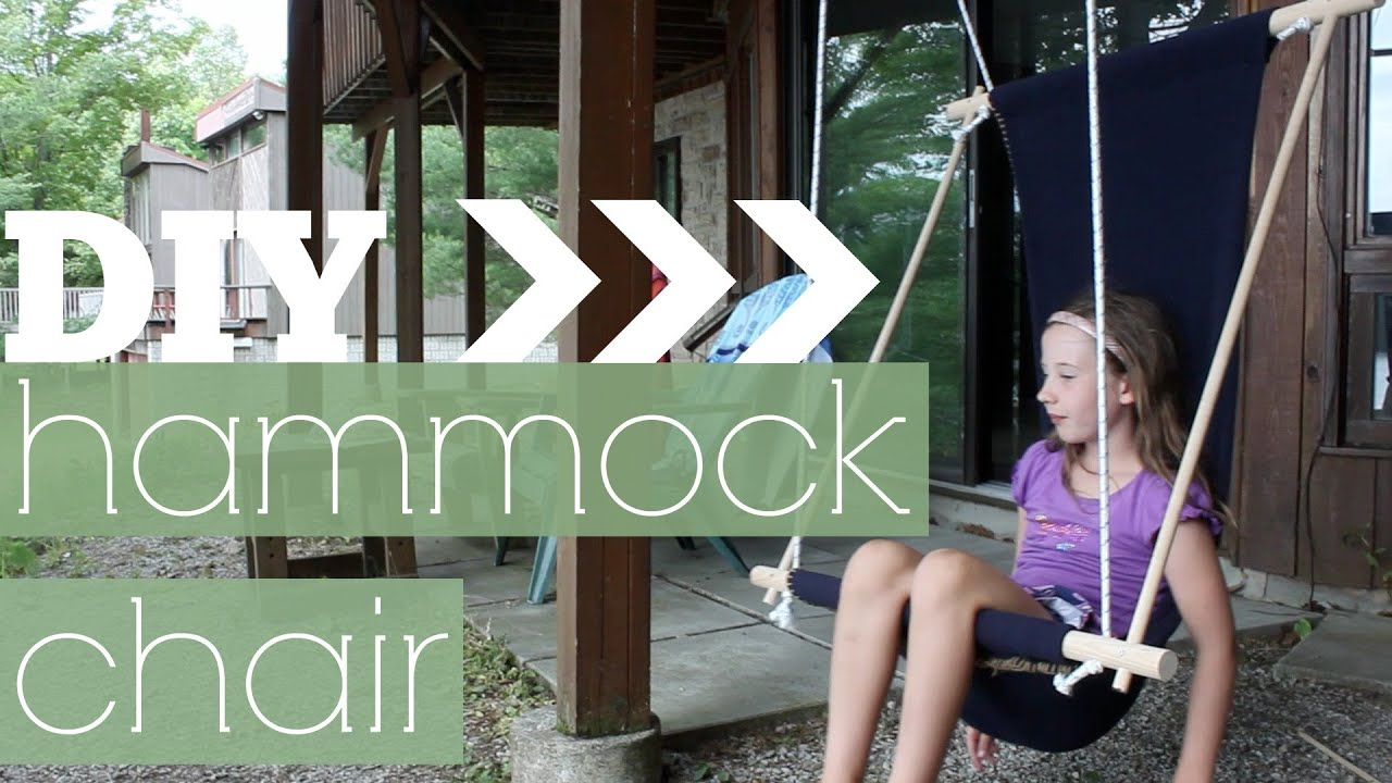 DIY Hammock ChairSwing YouTube