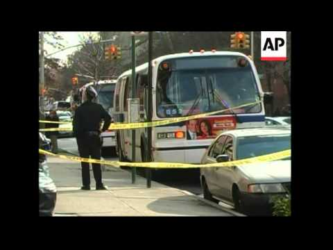 New York City police are questioning a man in the killing of an on-duty bus driver who was stabbed i