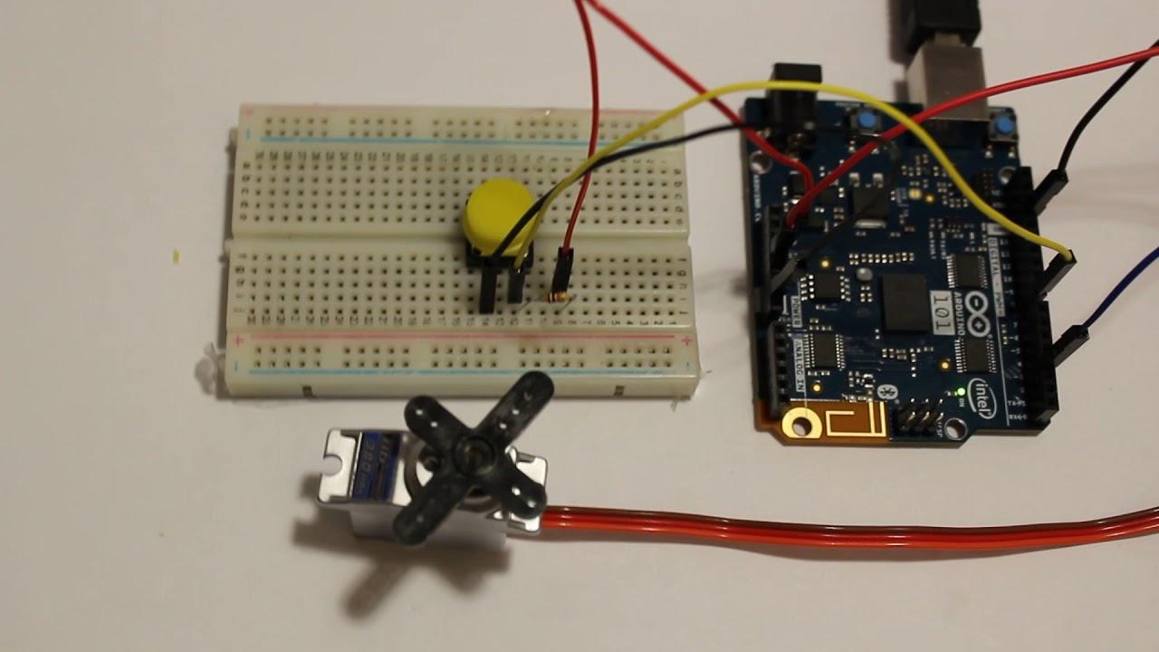 Servo Motor + Push Button + Arduino : 5 Steps