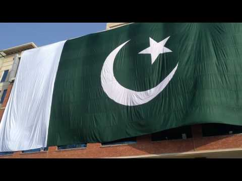 S&P Global Islamabad Office Celebrates Independence Day with Huge Pakistan Flag