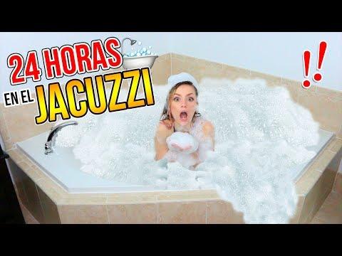 24 HORAS EN UN JACUZZI LLENO DE ESPUMA!! | Katie Angel