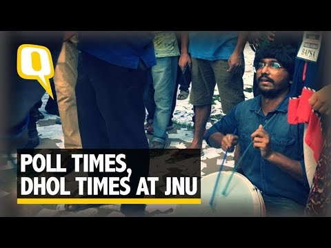JNUSU Polls: Under the Sway of the Dhol, A Tight Contest - The Quint