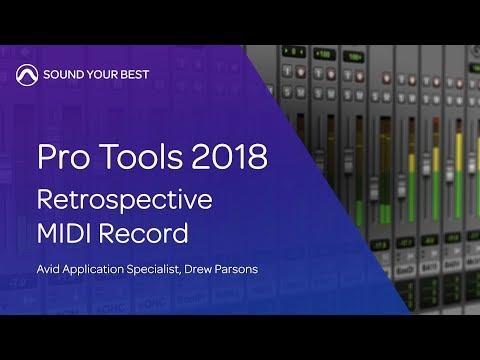Pro Tools 2018   Retrospective MIDI Record