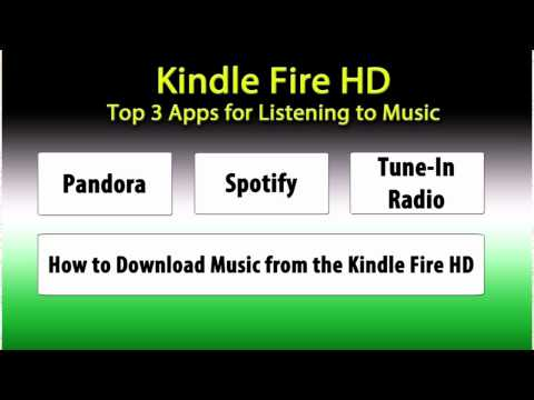 Kindle Fire HD: Top 3 Best Apps for Listening to Music​​​ | H2TechVideos​​​