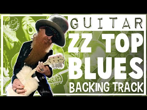 Blues Rock Backing Track ZZ Top Style in D