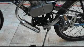 motor 2t 80cc cabeças bikes, opiniao do cliente vídeo 1