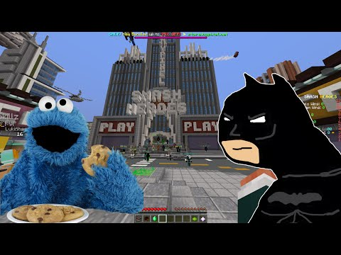 Minecraft Minigames SMASH HEROES: The Cookie Monster