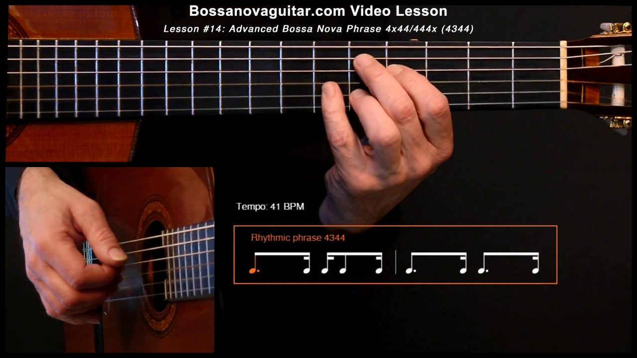 Samba de Uma Nota So (One Note Samba) - Bossa Nova Guitar Lesson #14: Advanced Phrase 4x44/444x