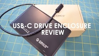 """ORICO 2.5"""" USB-C Tool-Free SATA Hard Drive Enclosure Unboxing and Review"""