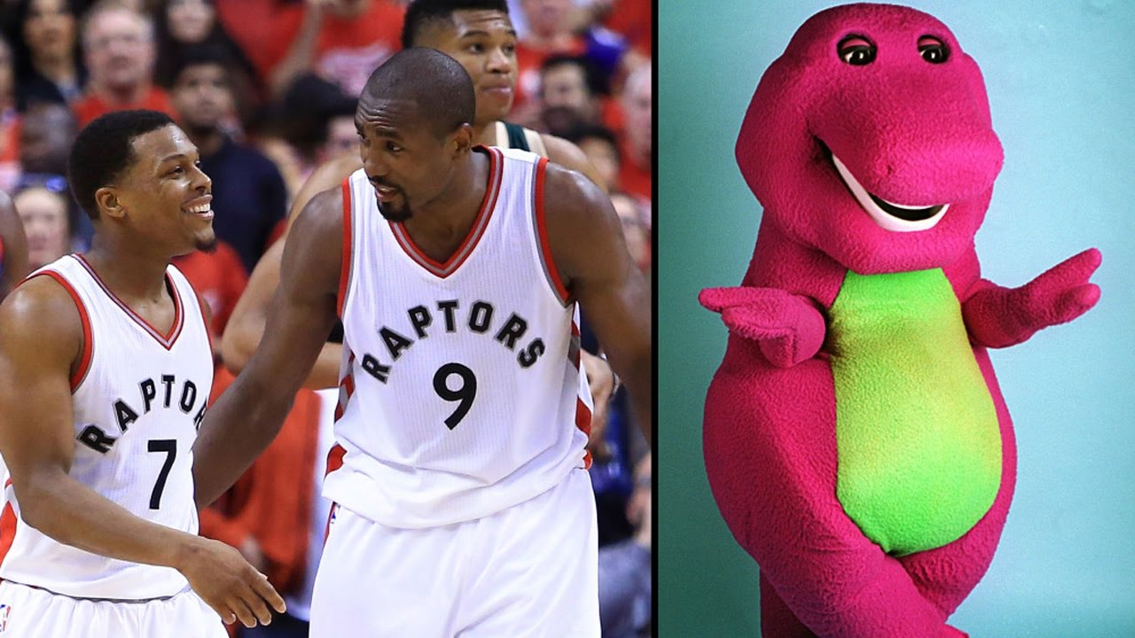 41da1e6a6b4 Bucks TROLL Raptors with Barney Theme Song During Introductions ...