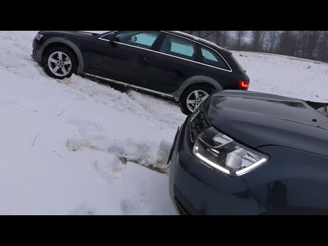 Audi A4 Allroad vs Dacia Duster Snow Offroad