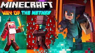 Minecraft Mobile | Way of the Nether Map Gameplay Walkthrough - Full Neitherite Weapons