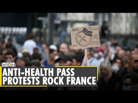 Anti-Health Pass Protest: France battles fourth wave of COVID-19