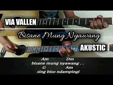 Kunci gitar | VIA VALLEN - bisane mung nyawang [akustic version]