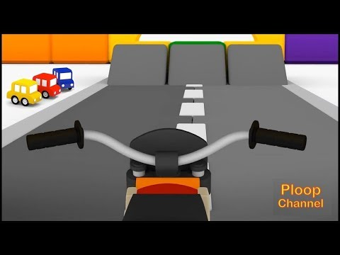 Thumbnail: Cartoon Cars - MOTORCYCLE & HELICOPTER Construction Compilation Cartoons for kids