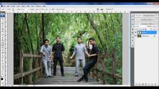 Cara Edit Foto Jurus 1000 Bayangan - Belajar Photoshop