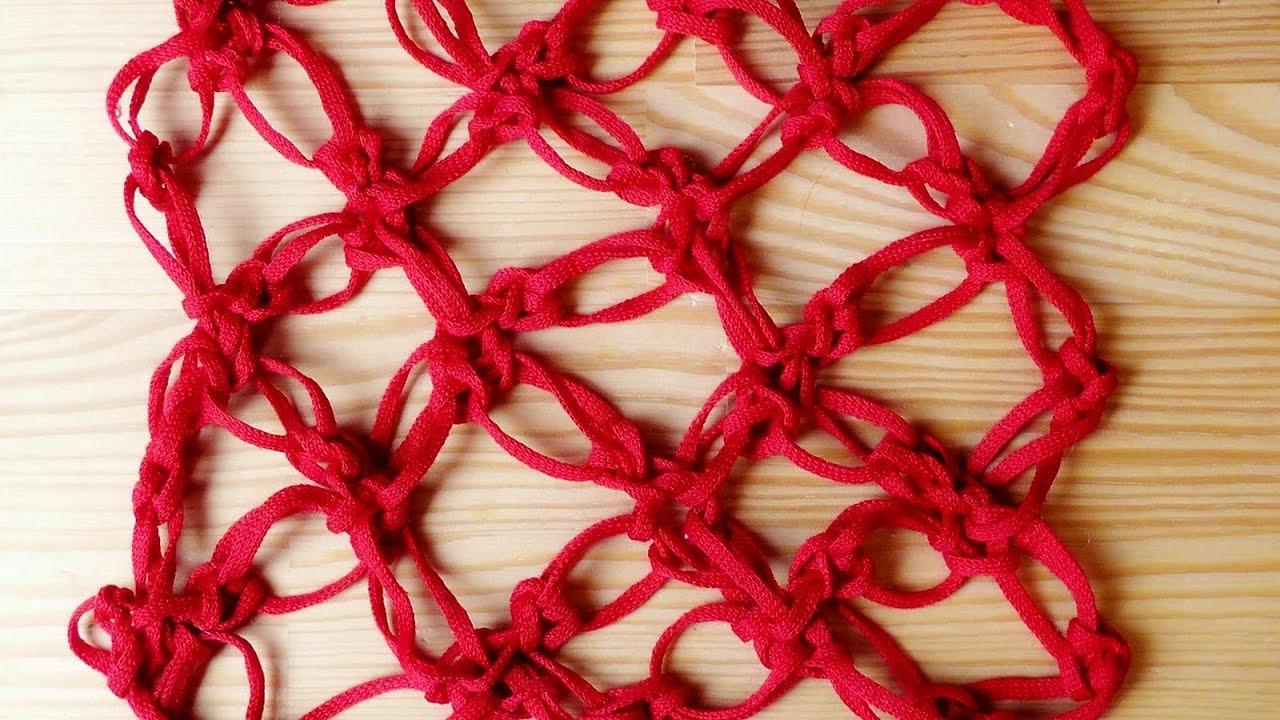 Liebesknoten Netz Häkelmuster [Fortgeschrittene] Linkshänder - YouTube
