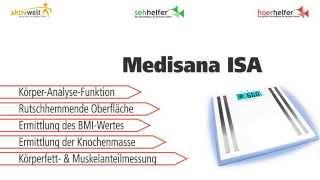 Produktvideo zu Personenwaage mit Körper-Analyse-Funktion Medisana ISA
