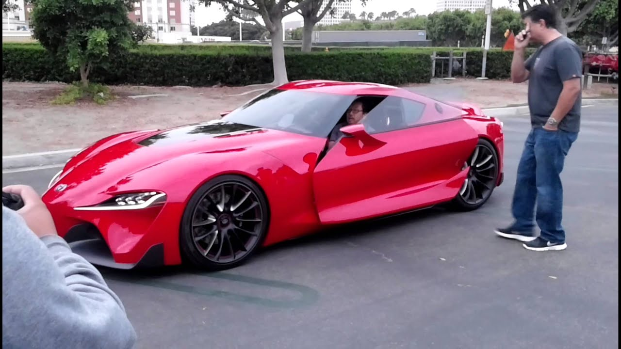 Toyota FT 1 being unloaded at Irvine Cars & Coffee