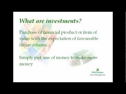 Understanding Investments with First Citizens Asset Management Session #1 (2011-07-27)