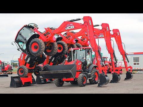 The Tractor Excavator JCB Adventure and Dancing   Equipment Machines Truck JCB