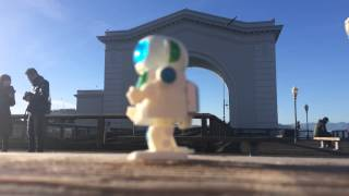 Robo G traveling and enjoying his day in San Francisco, including P...