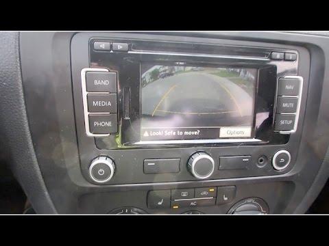 vw rear view camera installation